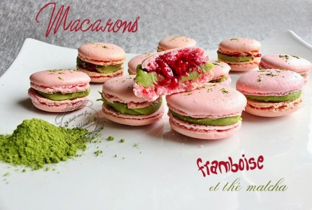 macarons-framboise-thé-matcha