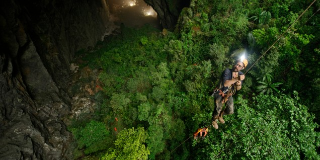 VIETNAM - MAY 03: A jungle grows inside Hang Son Doong. (Photo by Carsten Peter/National Geographic/Getty Images)